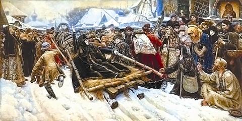 Расцвет реализма во второй половине xix века доклад реферат  Василий Суриков Боярыня Морозова 1887