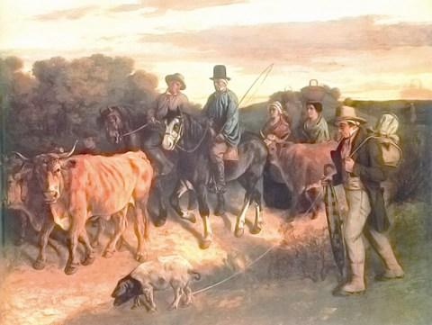 Расцвет реализма во второй половине xix века доклад реферат  Гюстав Курбе Крестьяне из Флажи возвращающиеся с ярмарки 1850 1855