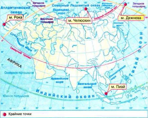 Физико географическое положение Евразии География Реферат  Рис 164 Физико географическое положение Евразии