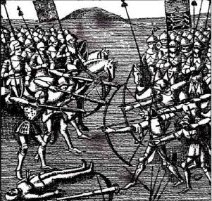 Столетняя война гг История Реферат доклад  Битва при Креси В ней принимали участие итальянские генуэзские лучники