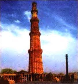 Культура средневековой Индии История Реферат доклад сообщение  Пятиярусная 73 метровая башня Кутб Минар в Дели xiii в